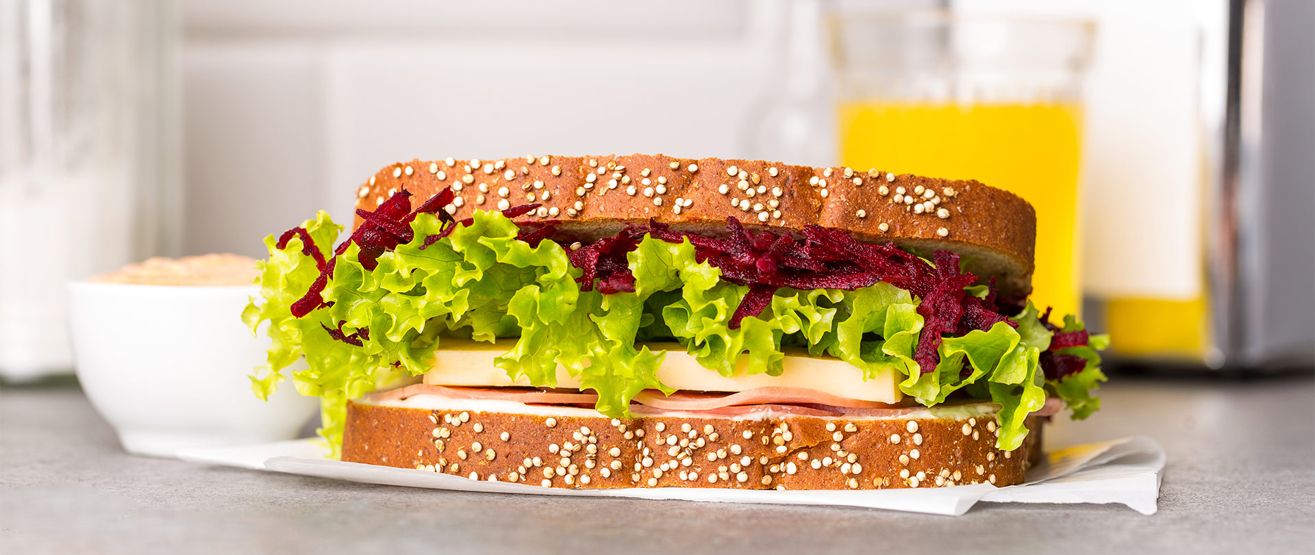 Sanduíche Romano com molho picante