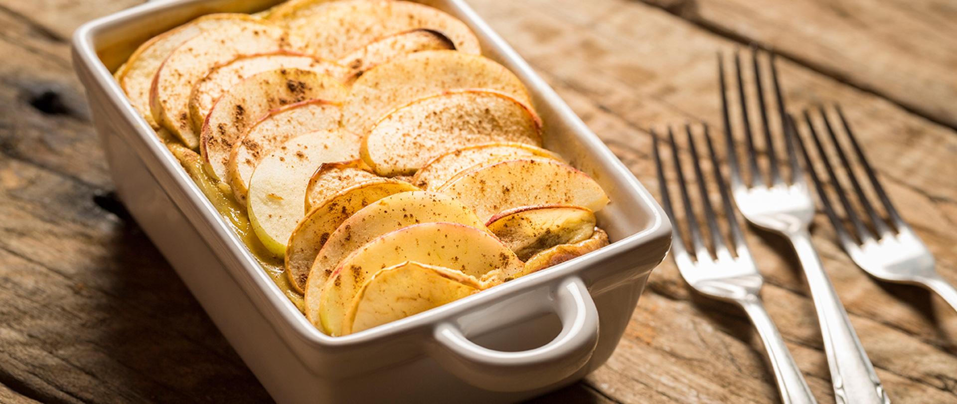 Tortinha de maçã e canela