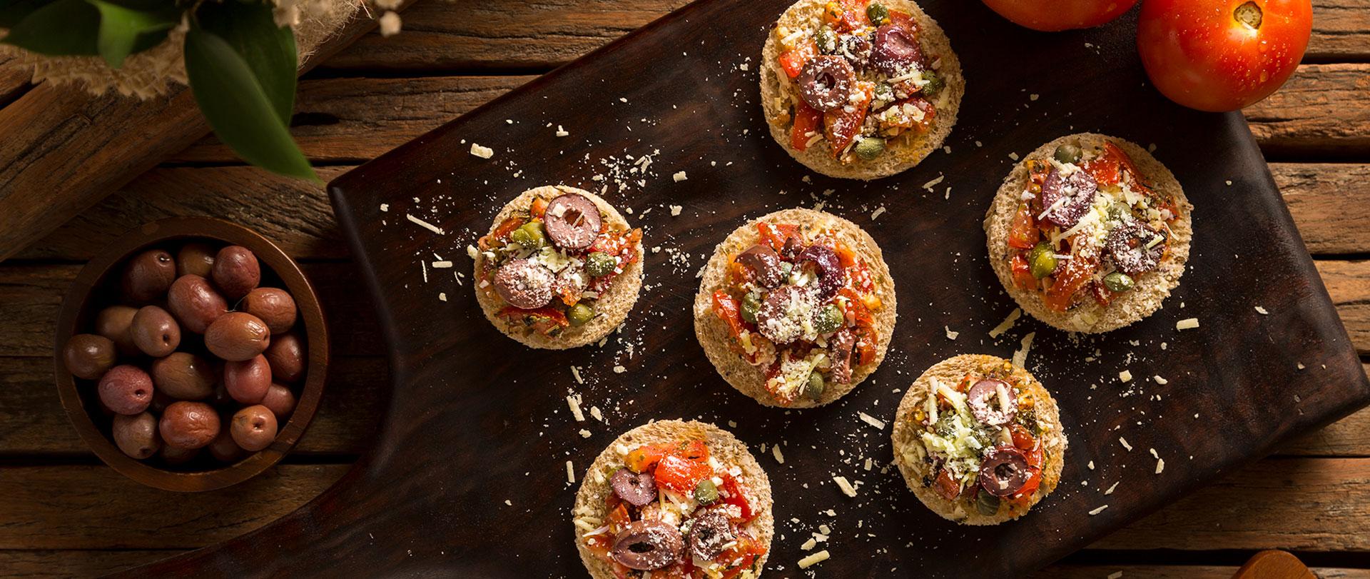 Bruschetta à la pizzaiola