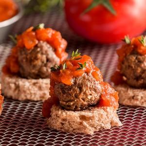 Meatball crostini